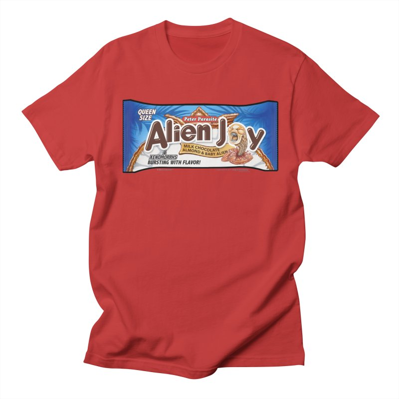 ALIEN JOY Candy Bar - Bursting with Flavor! Men's T-Shirt by joegparotee's Artist Shop