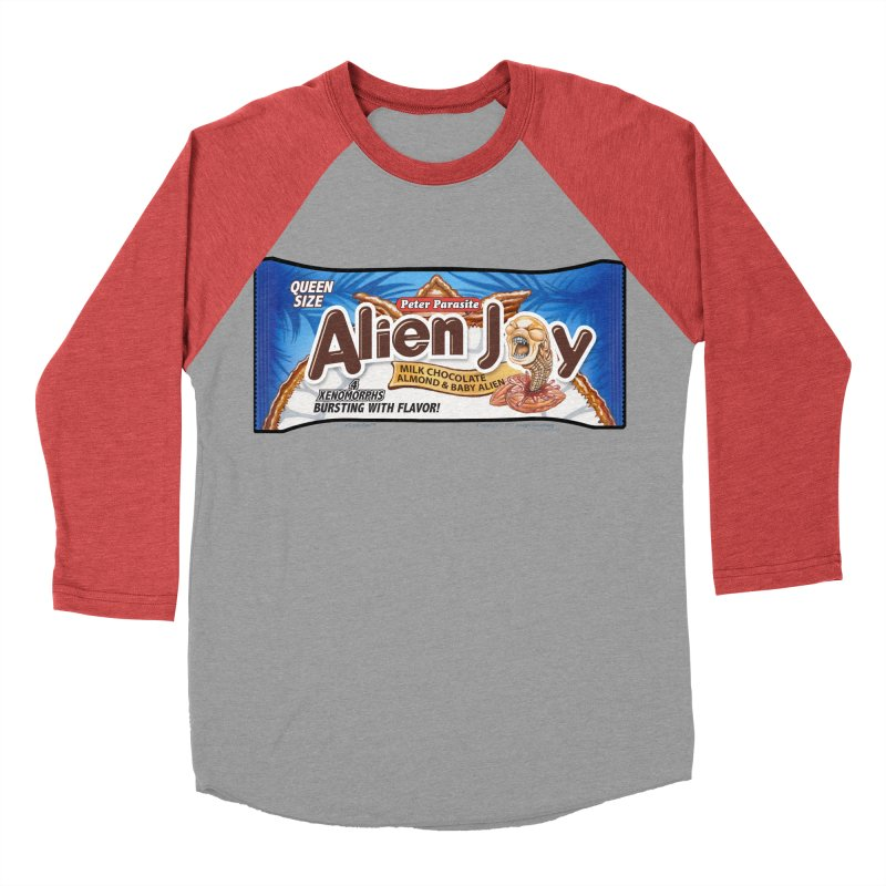 ALIEN JOY Candy Bar - Bursting with Flavor! Men's Baseball Triblend T-Shirt by joegparotee's Artist Shop
