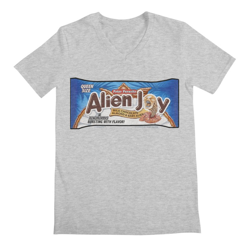 ALIEN JOY Candy Bar - Bursting with Flavor! Men's Regular V-Neck by joegparotee's Artist Shop