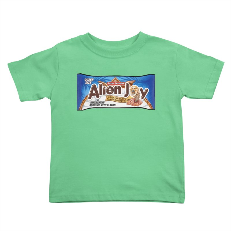 ALIEN JOY Candy Bar - Bursting with Flavor! Kids Toddler T-Shirt by joegparotee's Artist Shop