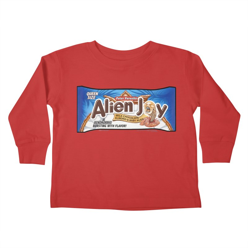 ALIEN JOY Candy Bar - Bursting with Flavor! Kids Toddler Longsleeve T-Shirt by joegparotee's Artist Shop