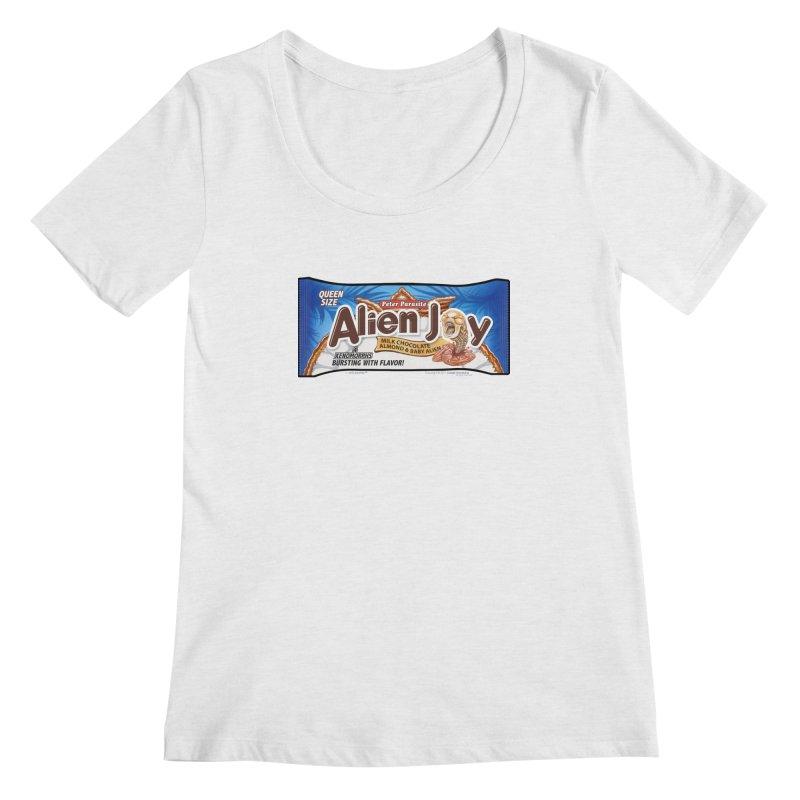 ALIEN JOY Candy Bar - Bursting with Flavor! Women's Scoopneck by joegparotee's Artist Shop
