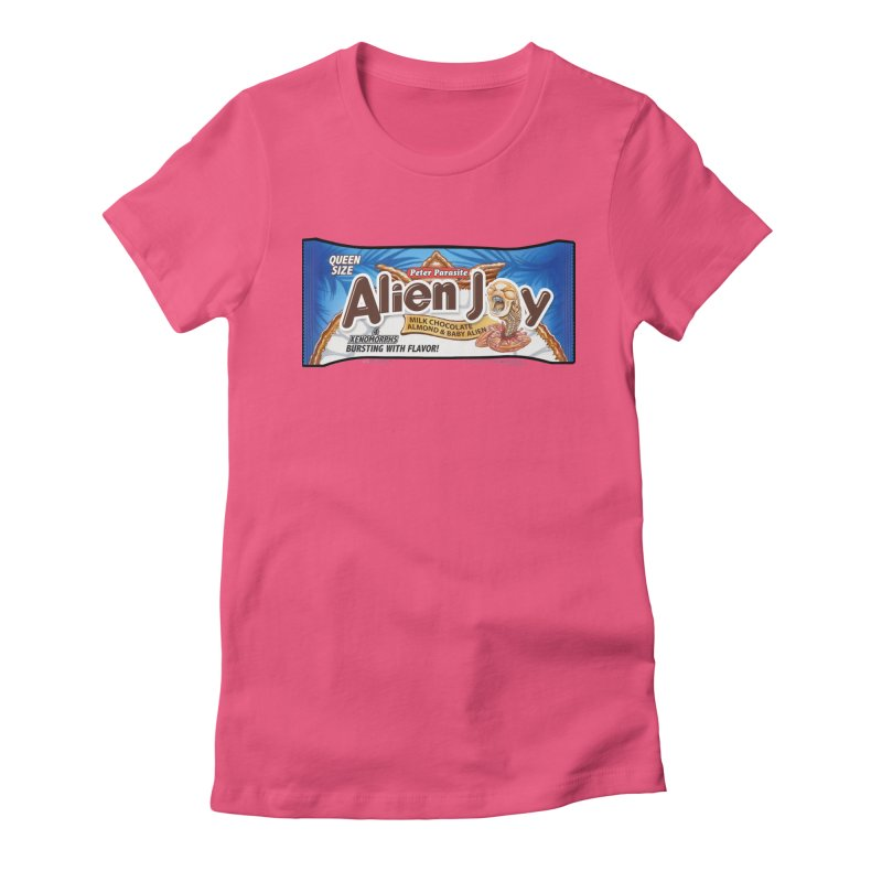 ALIEN JOY Candy Bar - Bursting with Flavor! Women's Fitted T-Shirt by joegparotee's Artist Shop