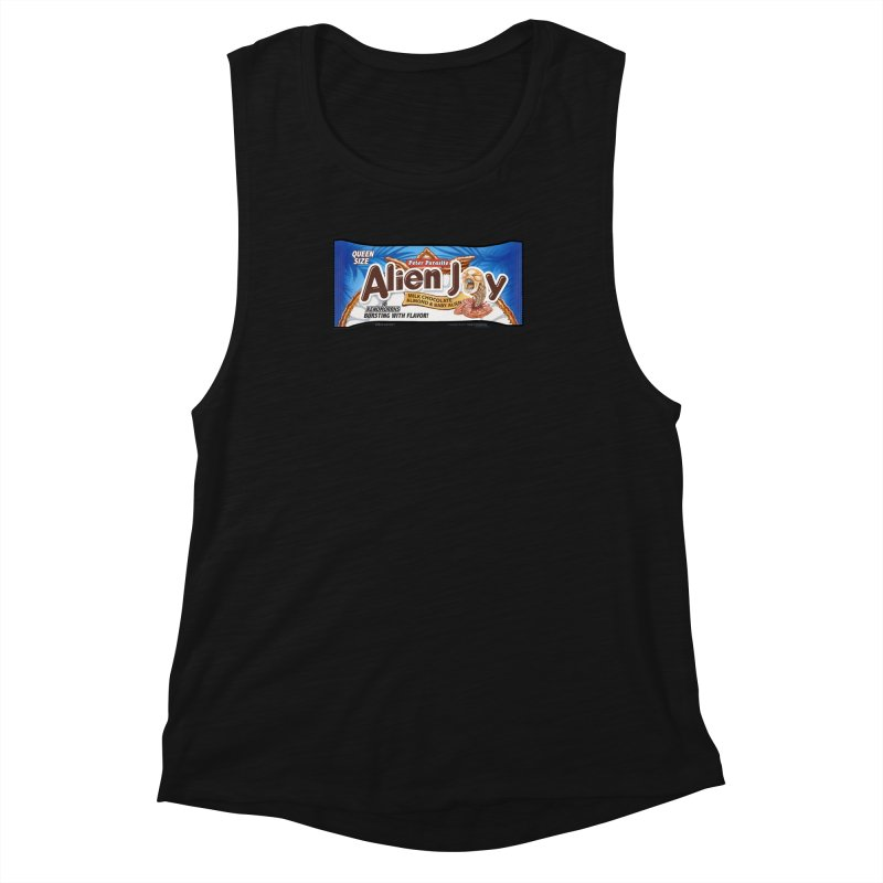 ALIEN JOY Candy Bar - Bursting with Flavor! Women's Muscle Tank by joegparotee's Artist Shop