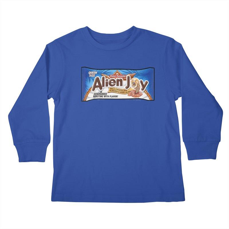 ALIEN JOY Candy Bar - Bursting with Flavor! Kids Longsleeve T-Shirt by joegparotee's Artist Shop
