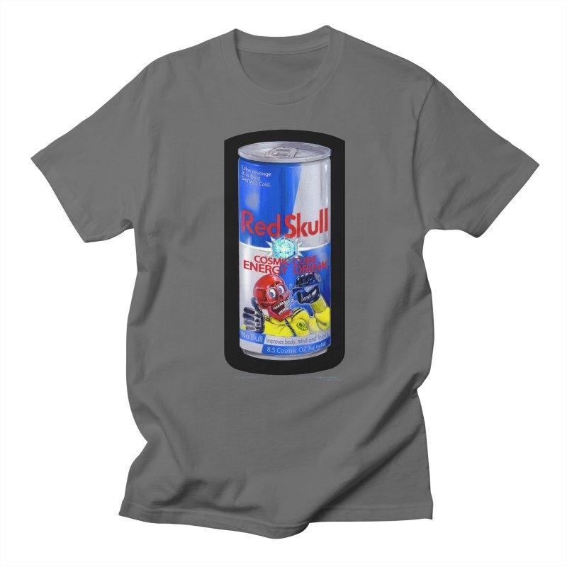 RED SKULL Cosmic Cube Energy Drink - No Bull! Men's T-Shirt by joegparotee's Artist Shop