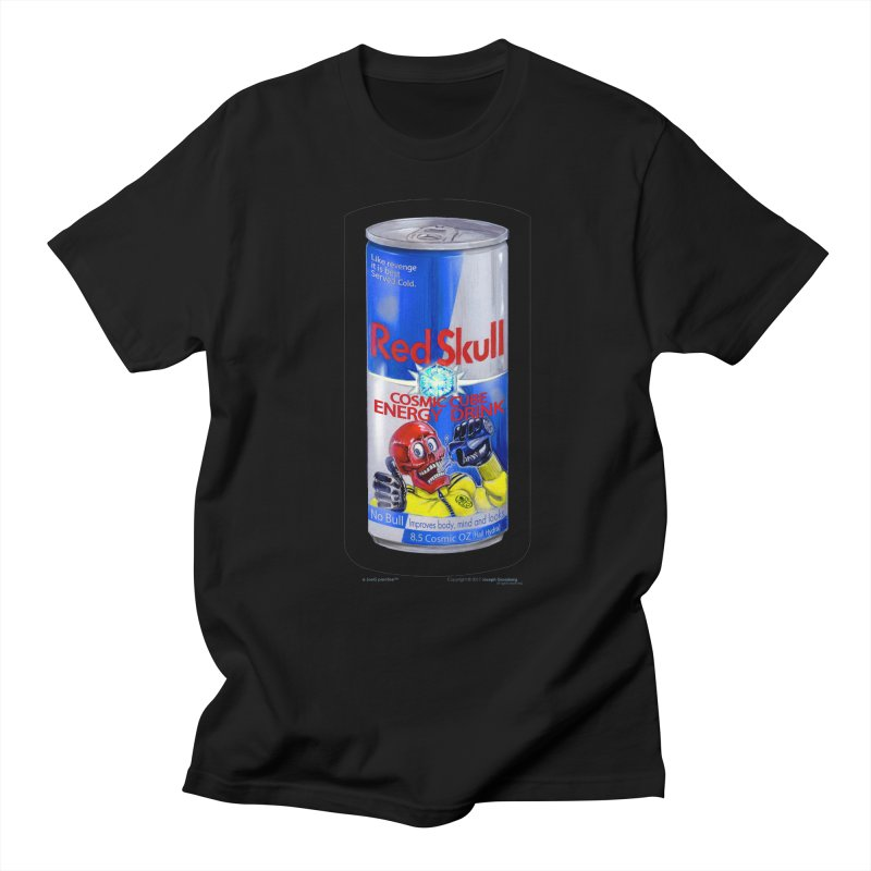 RED SKULL Cosmic Cube Energy Drink - No Bull! Men's Regular T-Shirt by joegparotee's Artist Shop