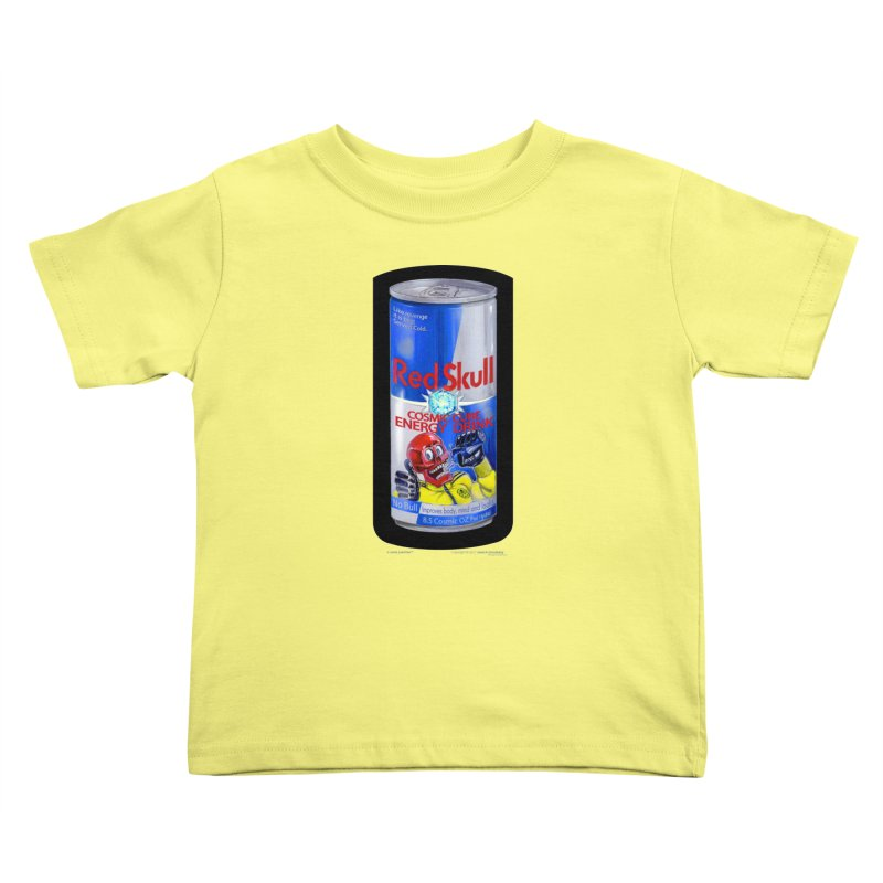 RED SKULL Cosmic Cube Energy Drink - No Bull! Kids Toddler T-Shirt by joegparotee's Artist Shop