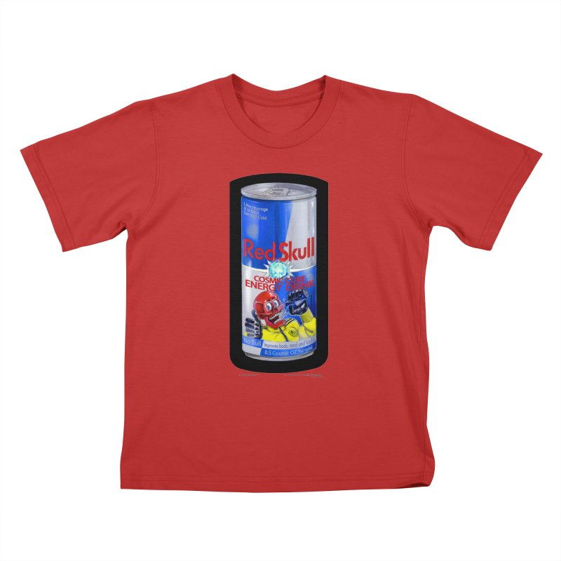 RED SKULL Cosmic Cube Energy Drink - No Bull! Kids T-Shirt by joegparotee's Artist Shop