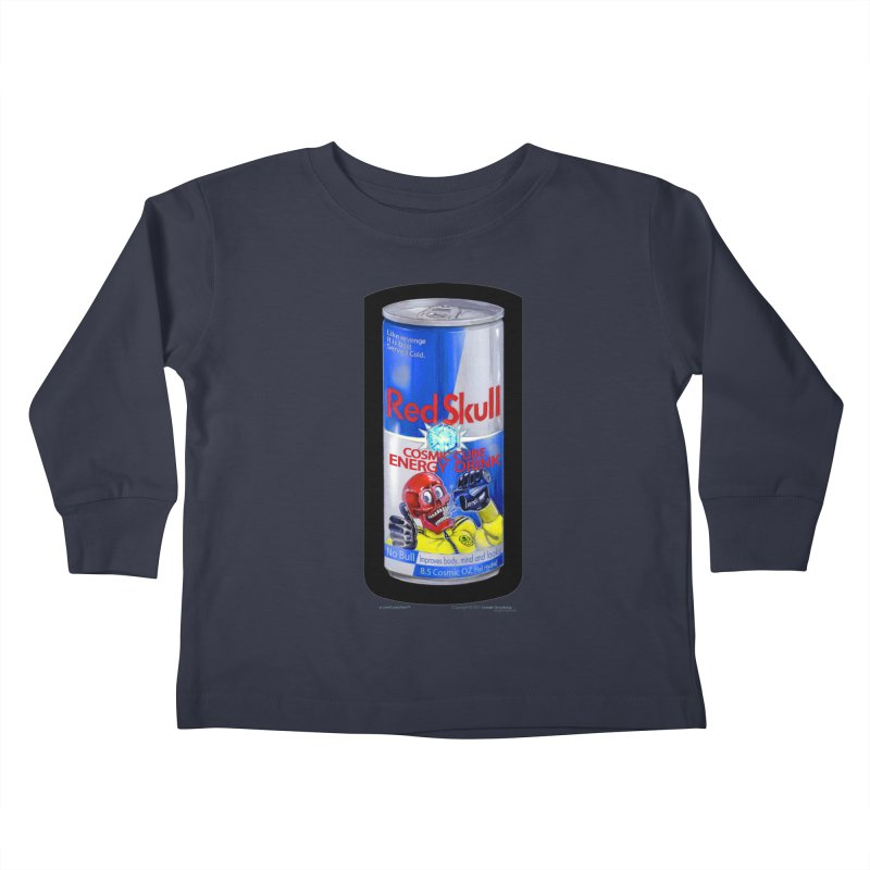 RED SKULL Cosmic Cube Energy Drink - No Bull! Kids Toddler Longsleeve T-Shirt by joegparotee's Artist Shop