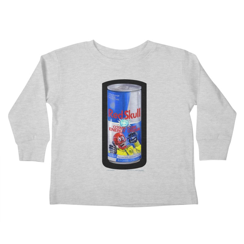 RED SKULL Cosmic Cube Energy Drink - No Bull! Kids  by joegparotee's Artist Shop