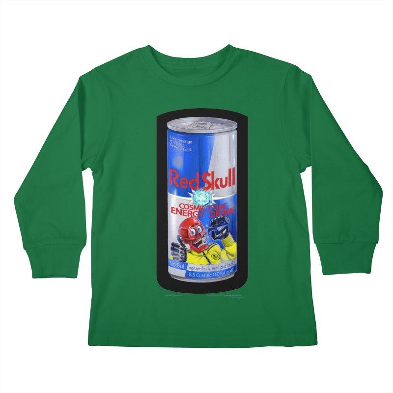 RED SKULL Cosmic Cube Energy Drink - No Bull! Kids  by joegparotee's Artist Shop