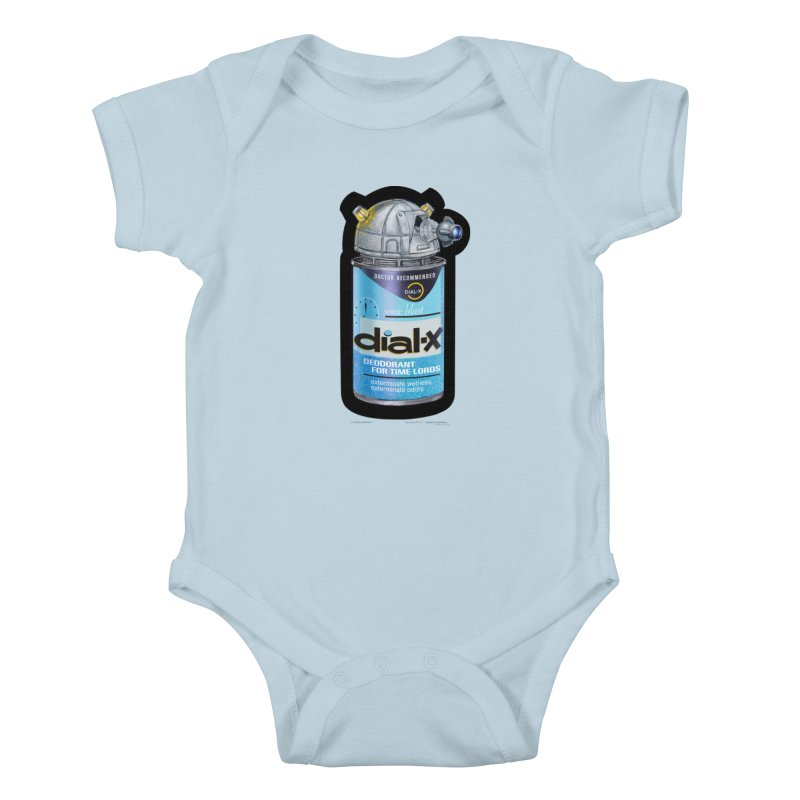 Dial-X Deodorant for Time Lords Kids Baby Bodysuit by joegparotee's Artist Shop