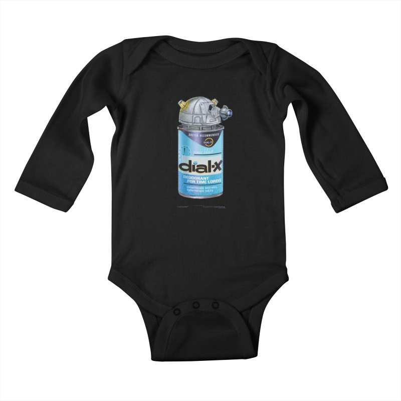Dial-X Deodorant for Time Lords Kids Baby Longsleeve Bodysuit by joegparotee's Artist Shop