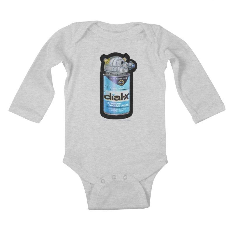 Dial-X Deodorant for Time Lords Kids Baby Longsleeve Bodysuit by joegparotee's Artist Shop