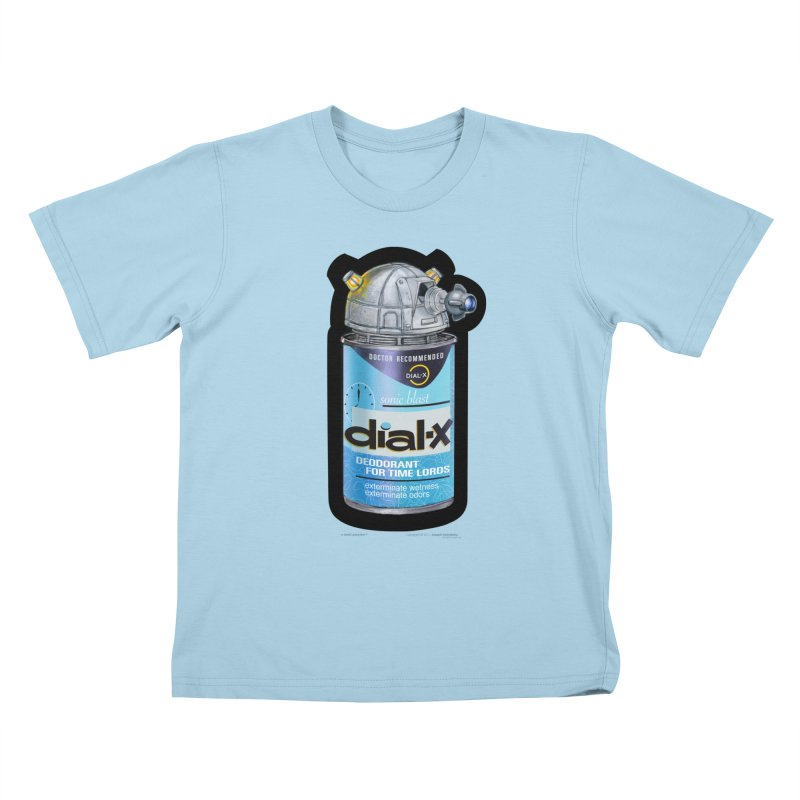 Dial-X Deodorant for Time Lords Kids T-Shirt by joegparotee's Artist Shop