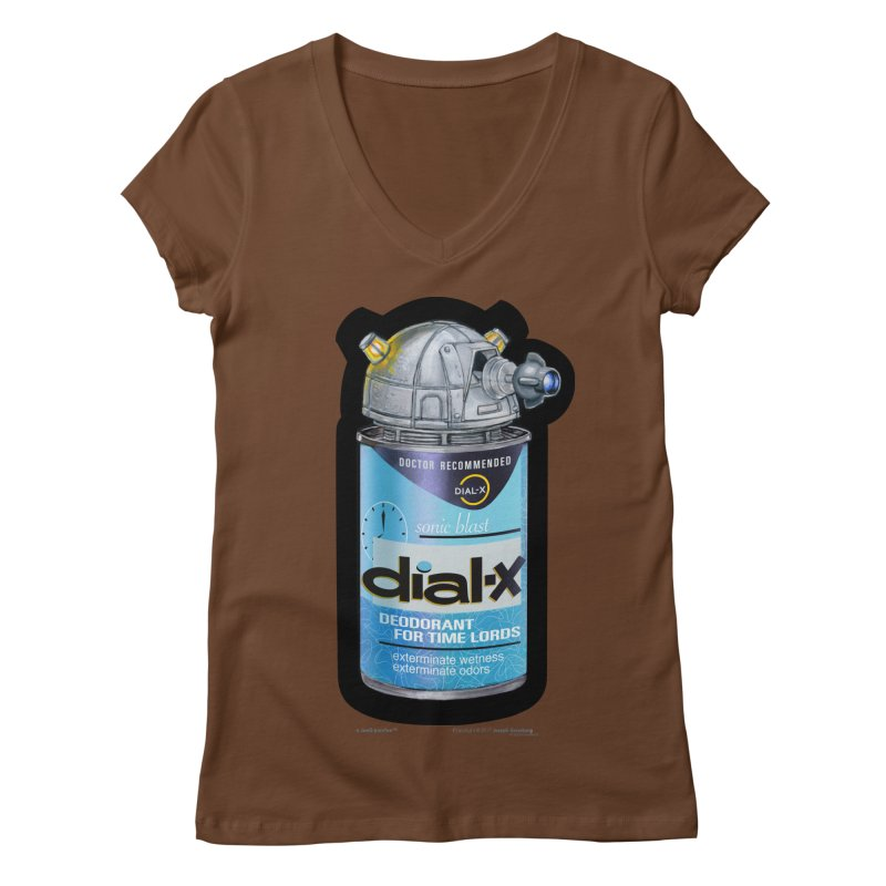 Dial-X Deodorant for Time Lords Women's Regular V-Neck by joegparotee's Artist Shop