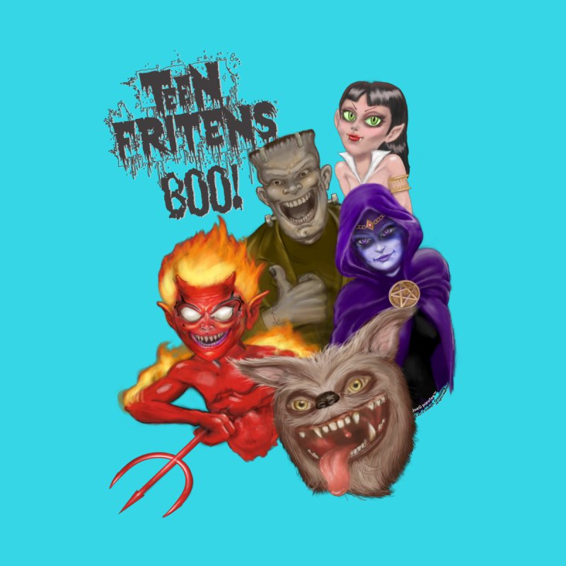 Teen Fritens BOO! Men's T-Shirt by joegparotee's Artist Shop