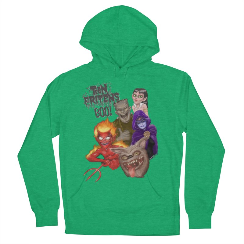 Teen Fritens BOO! Men's French Terry Pullover Hoody by joegparotee's Artist Shop
