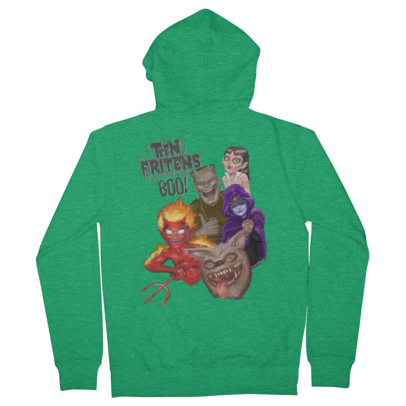 Teen Fritens BOO! Women's French Terry Zip-Up Hoody by joegparotee's Artist Shop