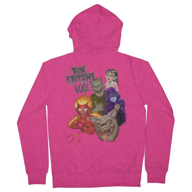 Teen Fritens BOO! Women's Zip-Up Hoody by joegparotee's Artist Shop