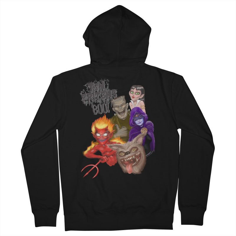 Teen Fritens BOO! Men's Zip-Up Hoody by joegparotee's Artist Shop