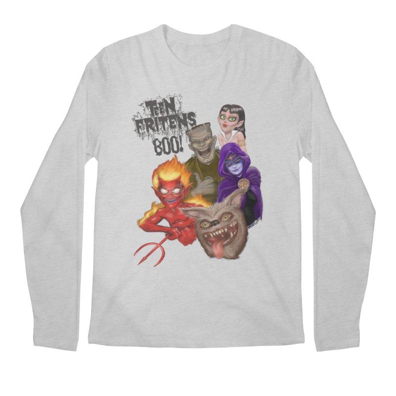 Teen Fritens BOO! Men's Longsleeve T-Shirt by joegparotee's Artist Shop