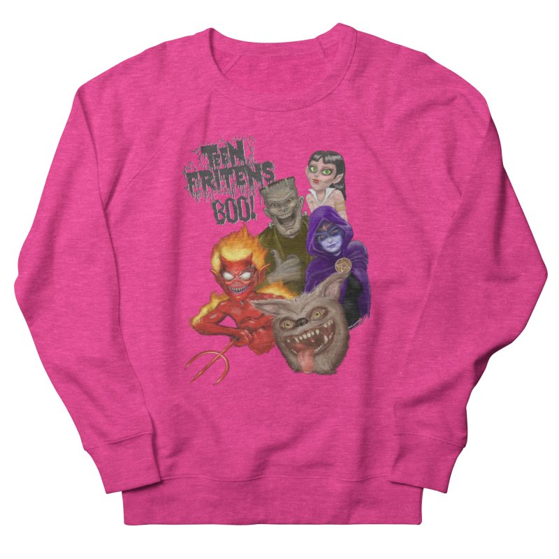 Teen Fritens BOO! Women's French Terry Sweatshirt by joegparotee's Artist Shop