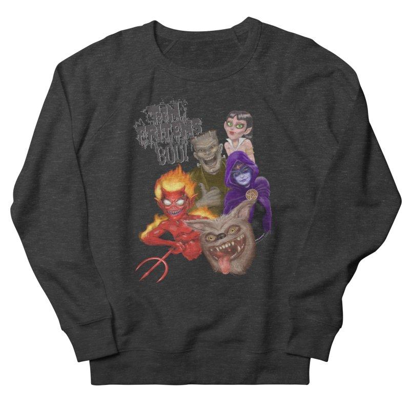 Teen Fritens BOO! Men's French Terry Sweatshirt by joegparotee's Artist Shop