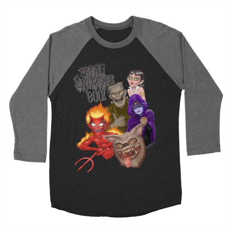 Teen Fritens BOO! Women's Baseball Triblend T-Shirt by joegparotee's Artist Shop