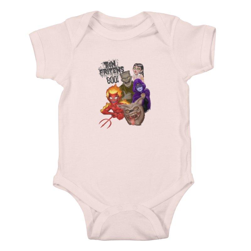 Teen Fritens BOO! Kids Baby Bodysuit by joegparotee's Artist Shop