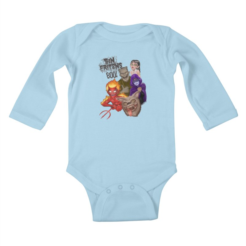 Teen Fritens BOO! Kids Baby Longsleeve Bodysuit by joegparotee's Artist Shop