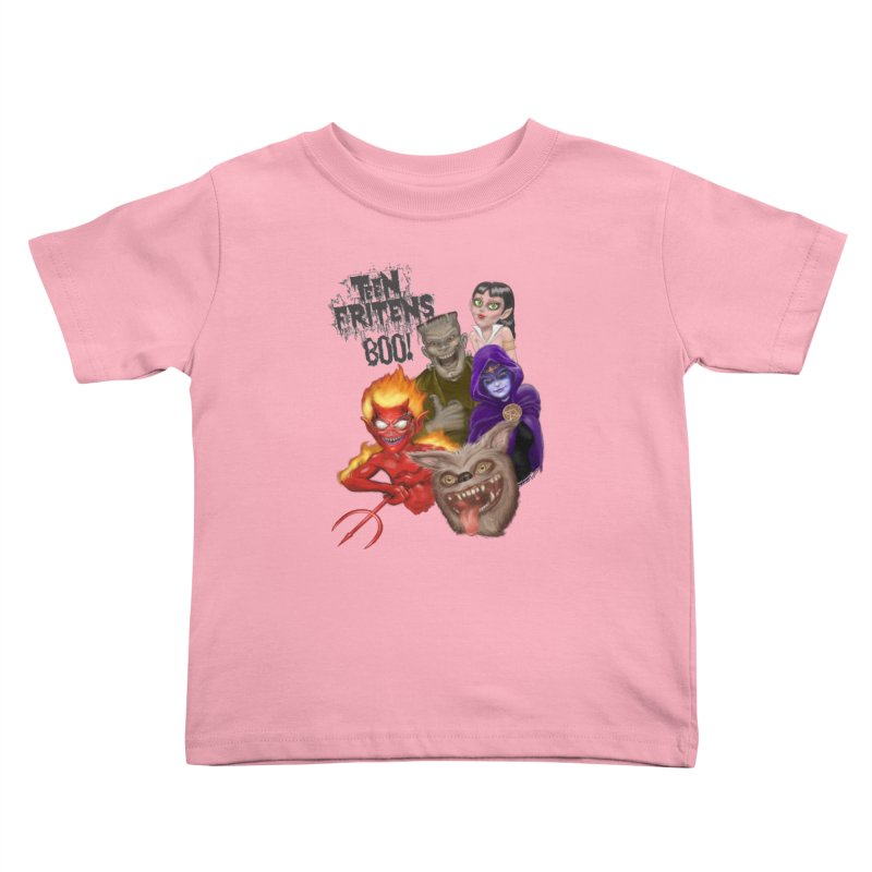Teen Fritens BOO! Kids Toddler T-Shirt by joegparotee's Artist Shop