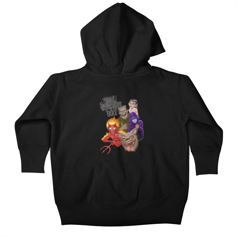 Teen Fritens BOO! Kids Baby Zip-Up Hoody by joegparotee's Artist Shop