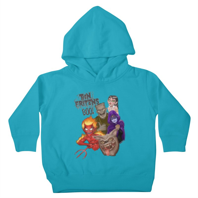 Teen Fritens BOO! Kids Toddler Pullover Hoody by joegparotee's Artist Shop