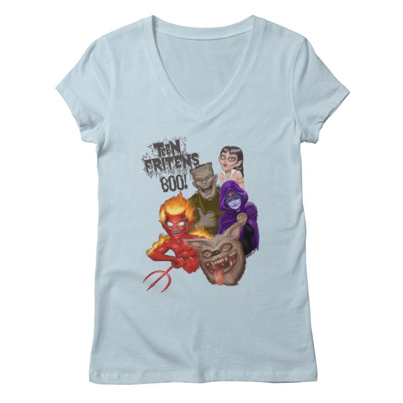 Teen Fritens BOO! Women's Regular V-Neck by joegparotee's Artist Shop