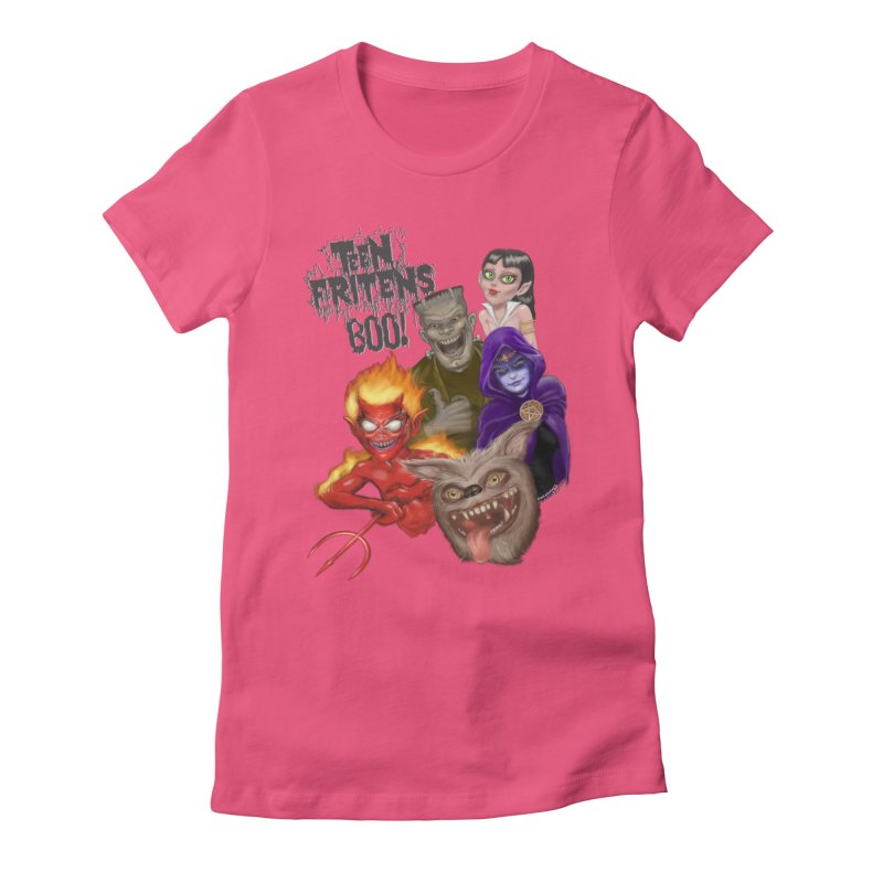 Teen Fritens BOO! Women's Fitted T-Shirt by joegparotee's Artist Shop