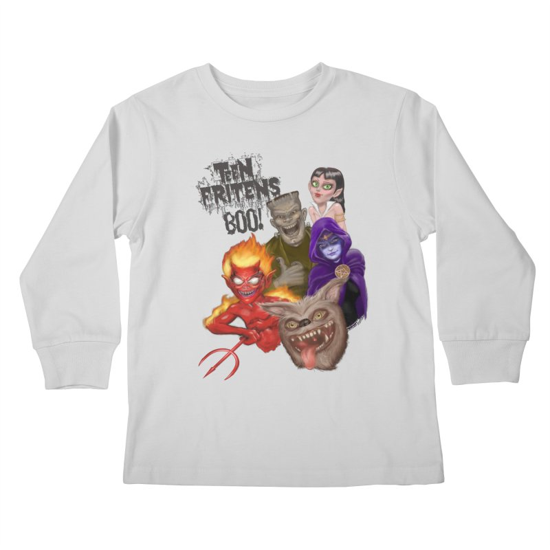 Teen Fritens BOO! Kids Longsleeve T-Shirt by joegparotee's Artist Shop