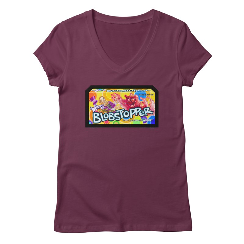 BLOBSTOPPER - joegparotees Women's Regular V-Neck by joegparotee's Artist Shop