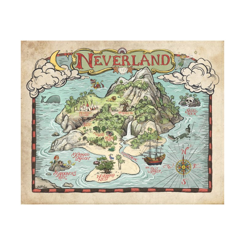 Map Of Neverland joehox neverland map home