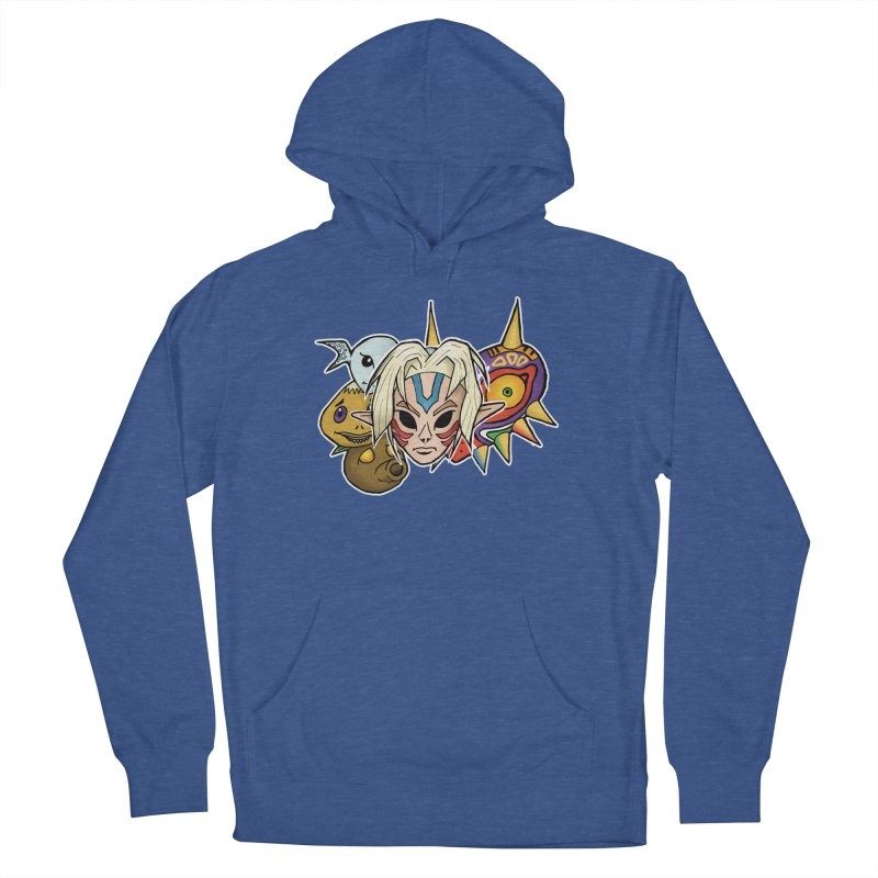 The Major Masks Women's French Terry Pullover Hoody by Joel Siegel's Artist Shop