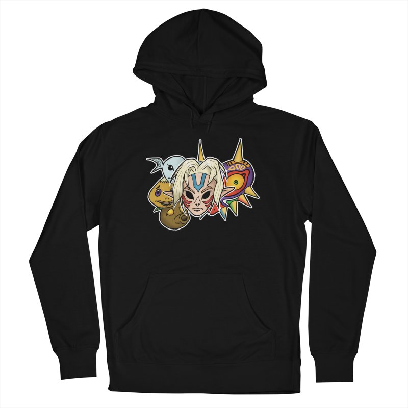 The Major Masks Men's French Terry Pullover Hoody by Joel Siegel's Artist Shop