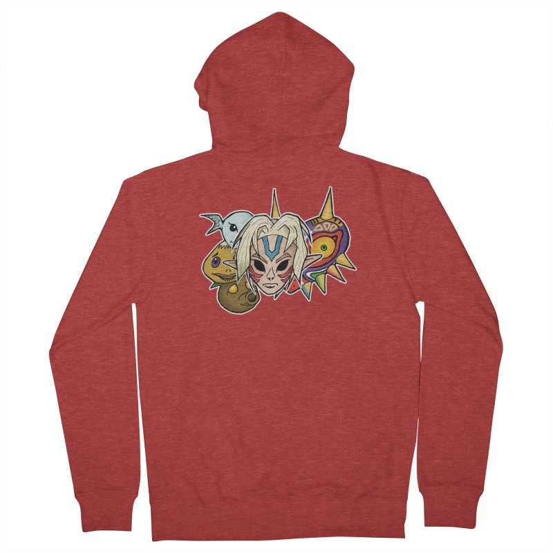 The Major Masks Men's French Terry Zip-Up Hoody by Joel Siegel's Artist Shop