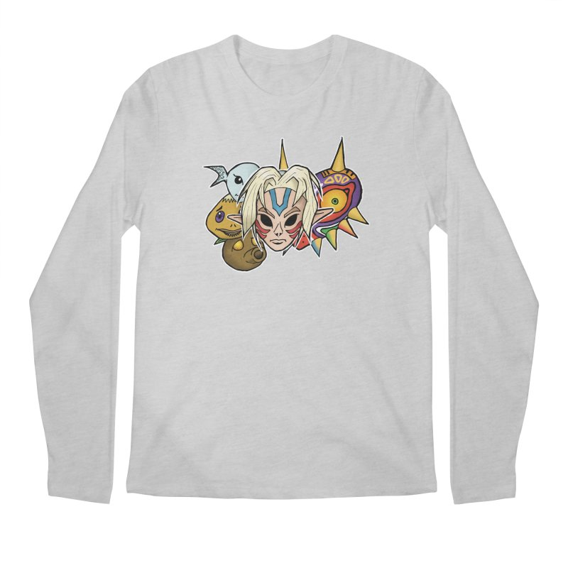 The Major Masks Men's Longsleeve T-Shirt by Joel Siegel's Artist Shop