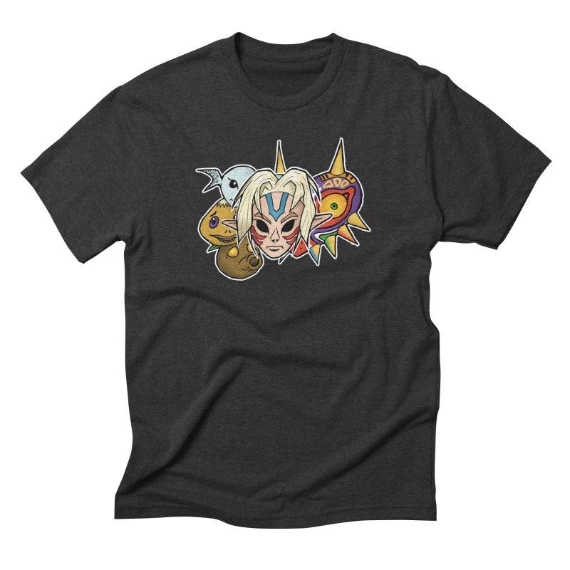 The Major Masks Men's Triblend T-Shirt by Joel Siegel's Artist Shop