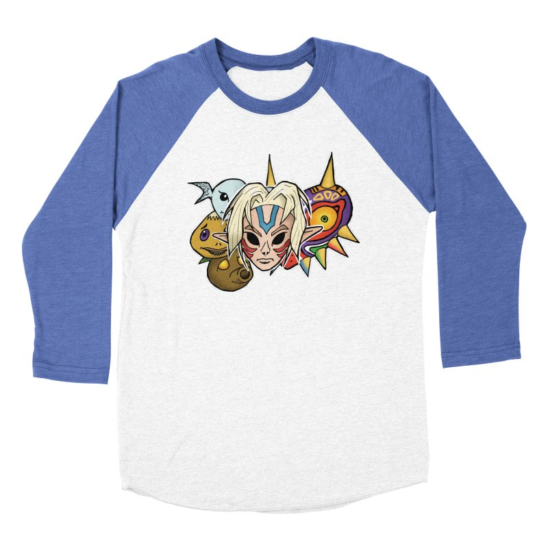 The Major Masks Women's Baseball Triblend Longsleeve T-Shirt by Joel Siegel's Artist Shop