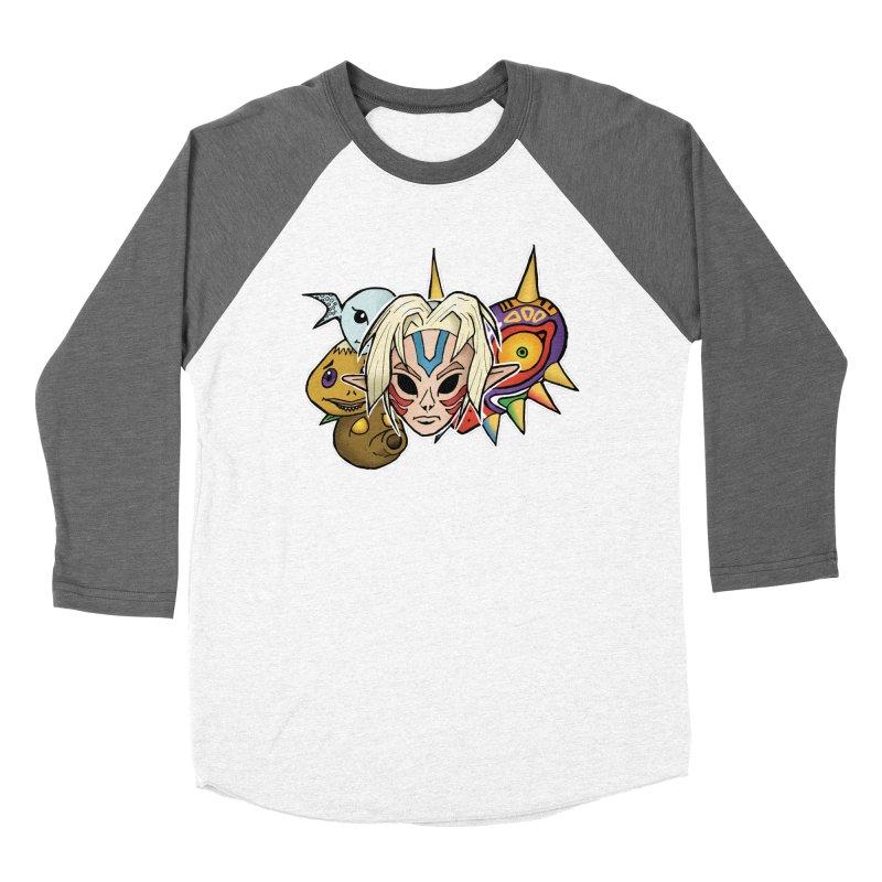 The Major Masks Women's Baseball Triblend T-Shirt by Joel Siegel's Artist Shop