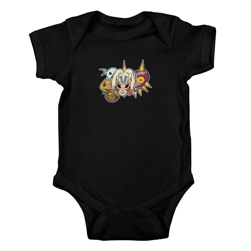 The Major Masks Kids Baby Bodysuit by Joel Siegel's Artist Shop
