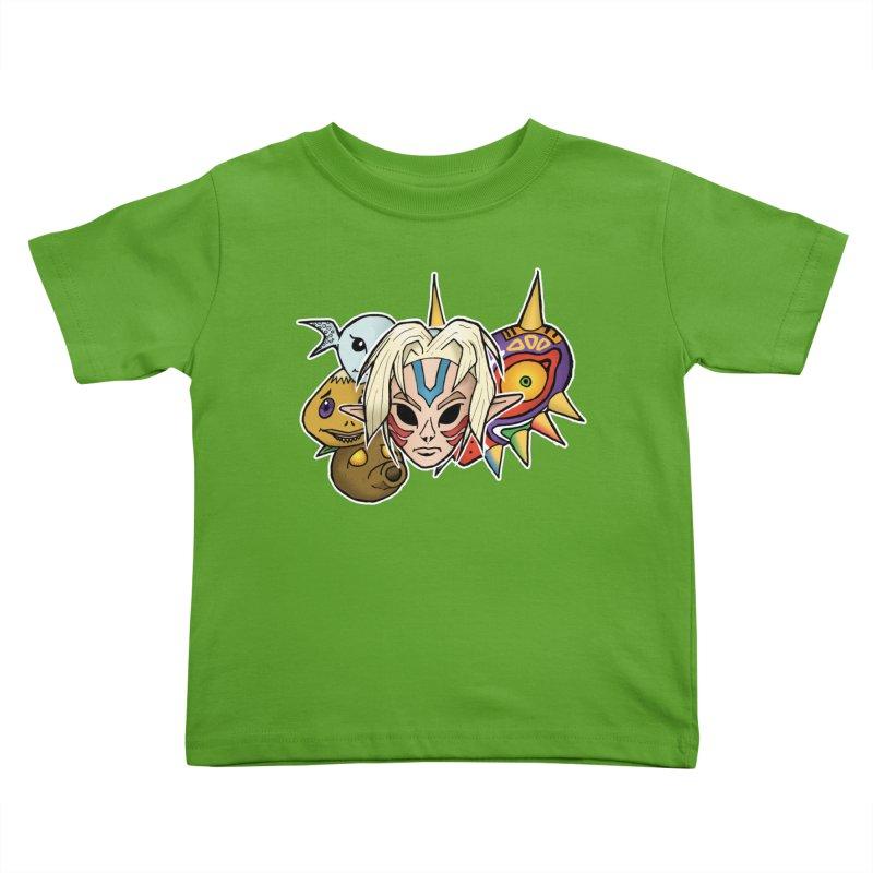 The Major Masks Kids Toddler T-Shirt by Joel Siegel's Artist Shop