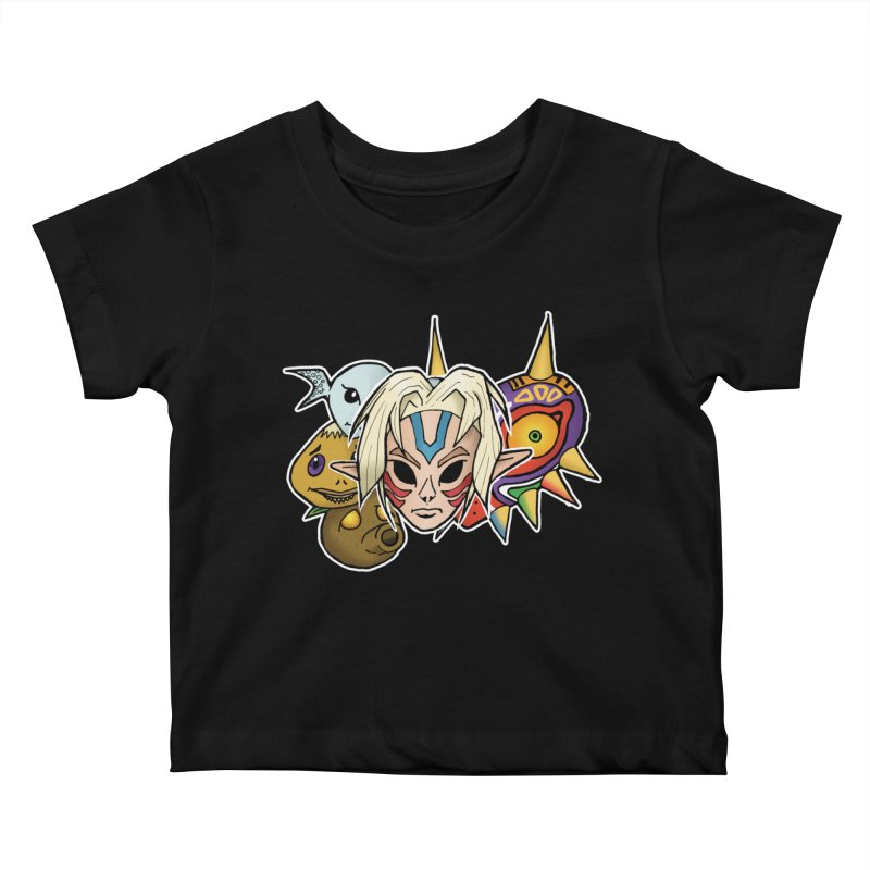 The Major Masks Kids Baby T-Shirt by Joel Siegel's Artist Shop
